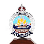 A Bahamas enamel car badge, (TBD)