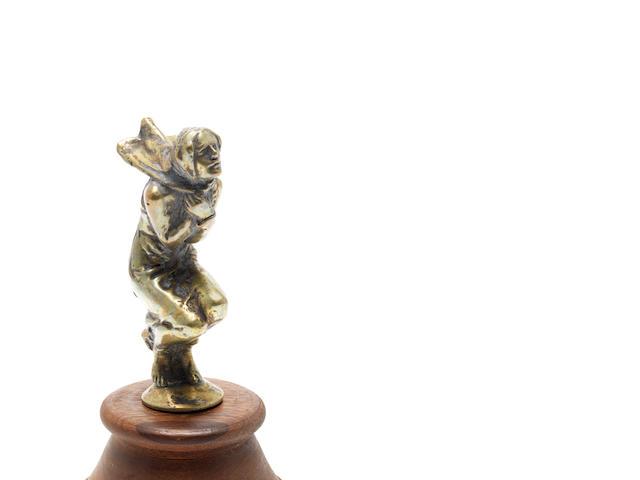 A 'La Frileuse' mascot,