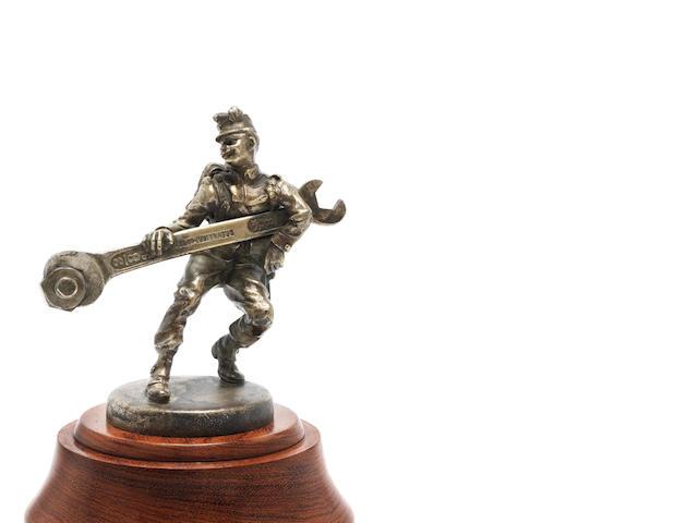 A rare 'Soldier with Spanner' mascot, by Carl Kauba, Austrian, circa 1913,