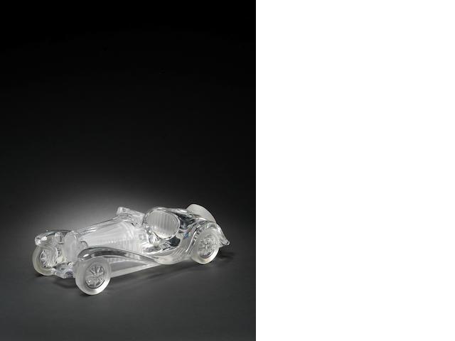 A Daum Bugatti glass deskpiece,