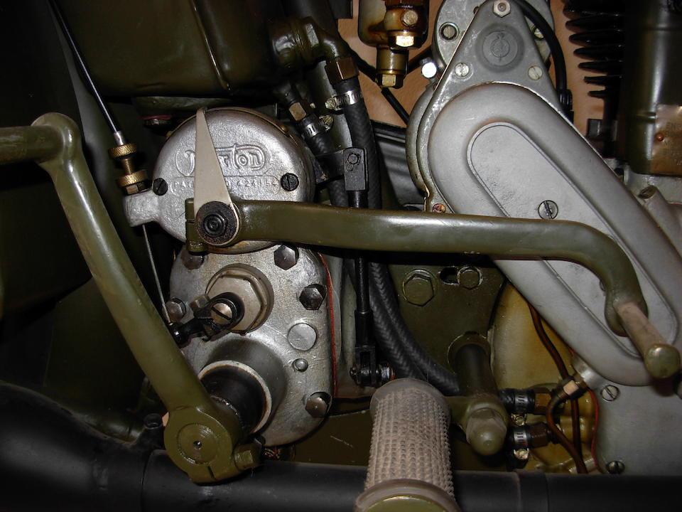 c.1944 Norton 490cc Model 16H Military Motorcycle Frame no. W91116 Engine no. W93521