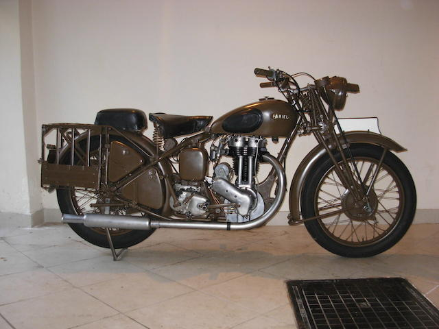 c.1942 Ariel 346cc W/NG Frame no. XG37008 Engine no. GBH26849
