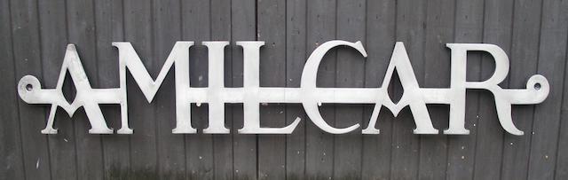 Emblème décoratif Amilcar de garage,