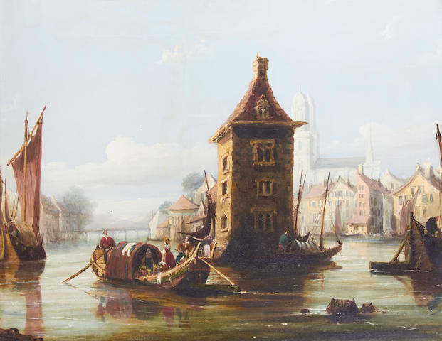 F Calvert, Rats Castle, oil
