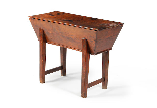 An 18th century elm dough bin