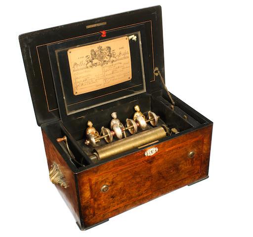 A good Mandarin-striker bells-in-view musical box, by Bremond, circa 1885,