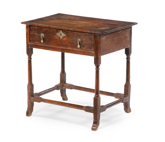 A small oak side table Early 18th century