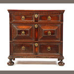 Oak Charles II moulded chest of drawers