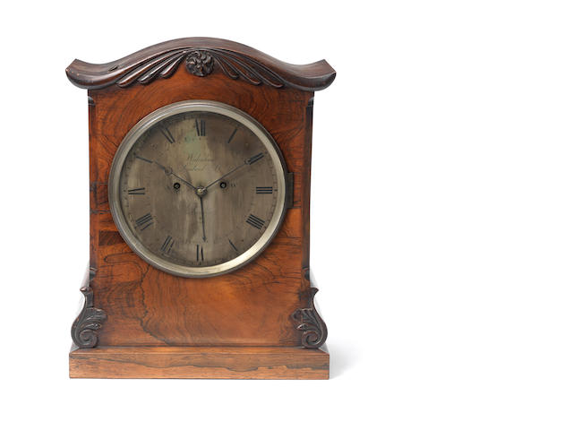 A Regency rosewood bracket clockby Widenham, Lombard St, London