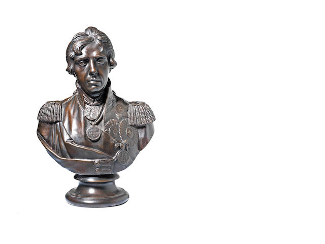 An early 20th century bronze bust of Lord Nelson (1758 – 1805)