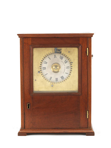 A late 19th century Barwise mahogany bracket timepiece number 5637