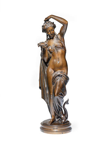 A late 19th century French bronze figure of a female nude