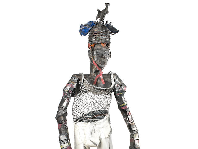 Sokari Douglas-Camp (British, born 1958), 'Naked Fish'  200cm (78 3/4in) high