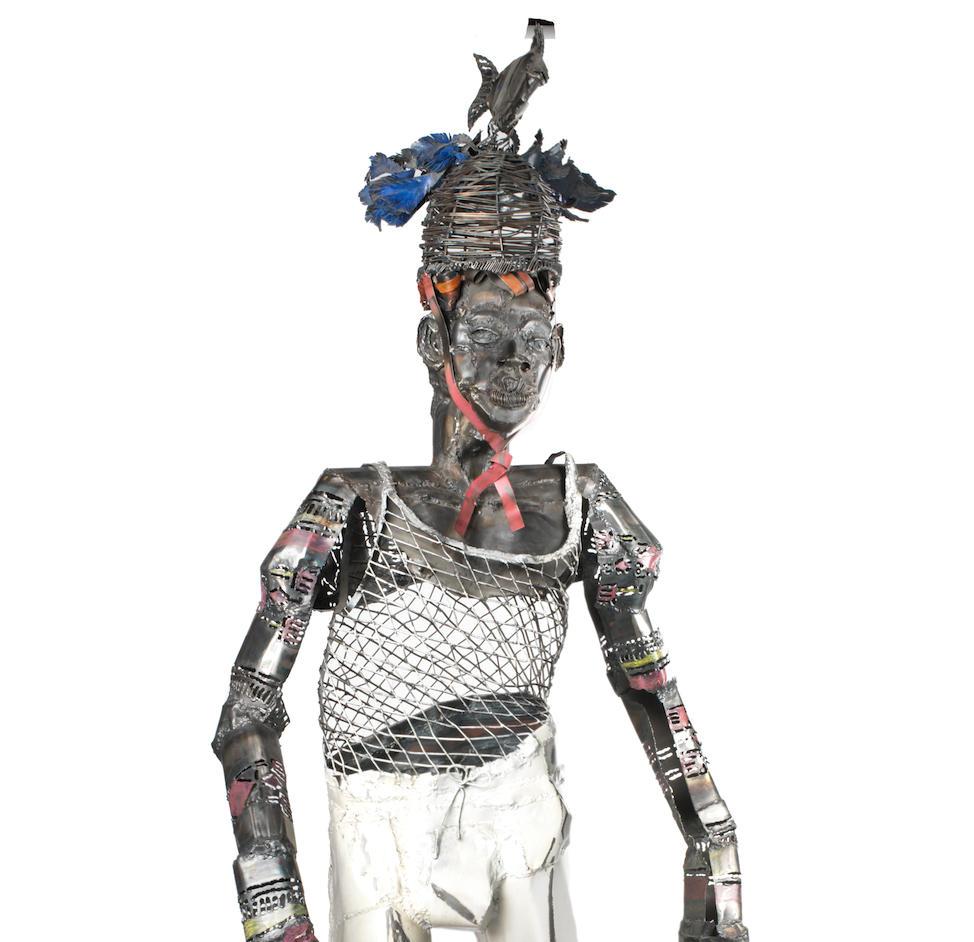 Sokari Douglas-Camp (British, born 1958), 'Naked Fish'  200cm (78 3/4in) high