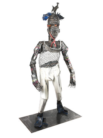 Sokari Douglas Camp (Nigerian, born 1958) 'Naked Fish' 210cm (82 11/16in). high