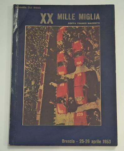 A 1953 Mille Miglia programme,