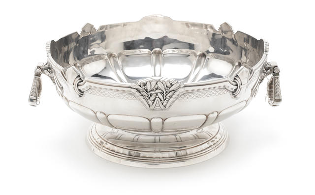 A  silver rose bowl by Mappin & Webb, Sheffield 1936