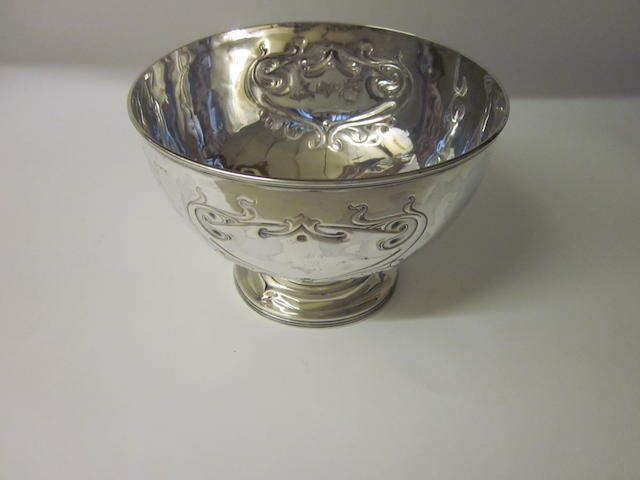 A silver rose bowl, by James Round, Sheffield 1912,