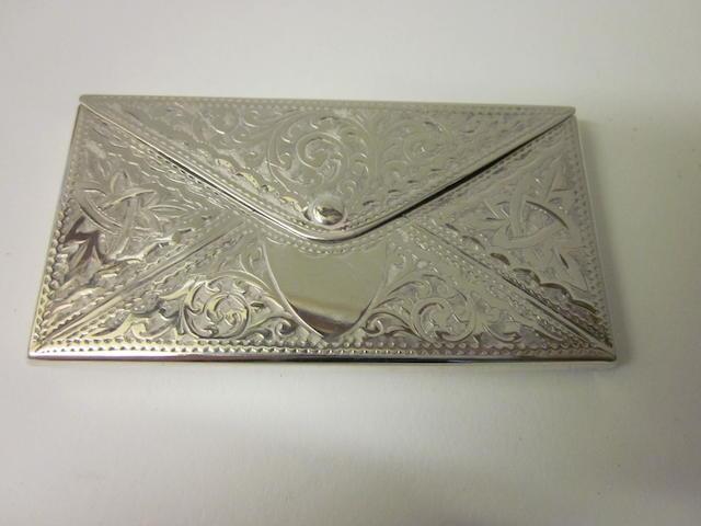 A Victorian silver card case Birmingham 1906,