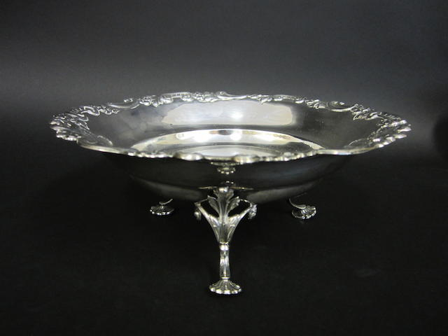 A Victorian silver pedestal bowl James Dixon and Sons, Sheffield 1900