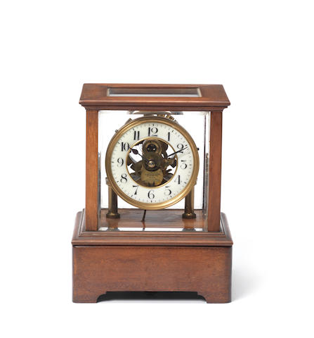 An early 20th century electric mantel timepiece by Eureka Clock Co. London