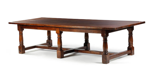 A large oak refectory-type table 20th century