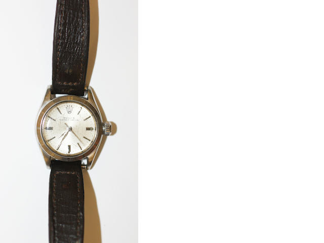 Rolex: A lady's stainless steel Oyster Perpetual wristwatch