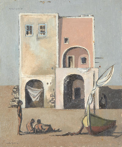 Michael Ayrton (British, 1921-1975) 'The House, Ischia'