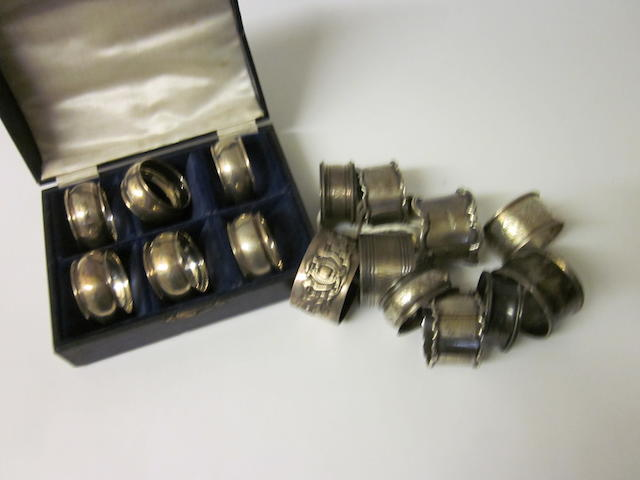 A set of six napkin rings Birmingham 1919,   (16)