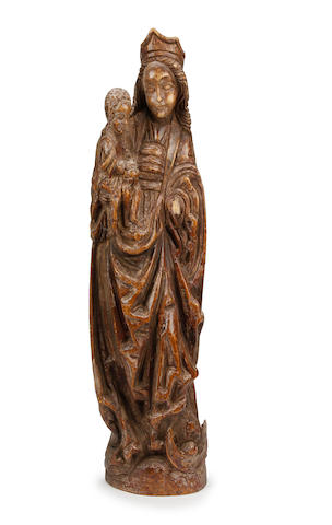 Madonna & child carving