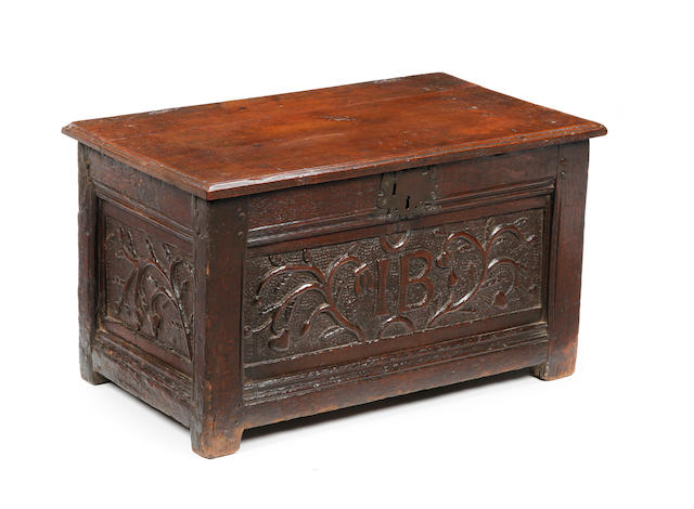 17th century childs coffer