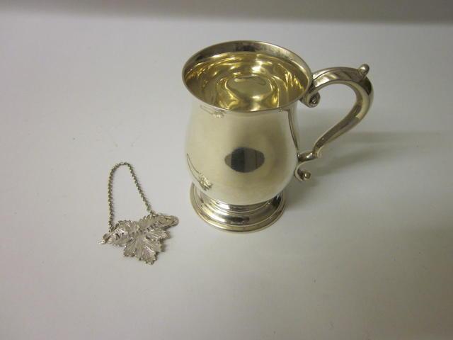 A silver half pint mug,  Sheffield 1943,   (2)