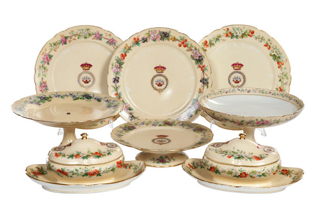 A Limoges dessert service, early 20th century