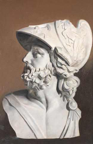 English School, 20th century A painted bust of Pericles