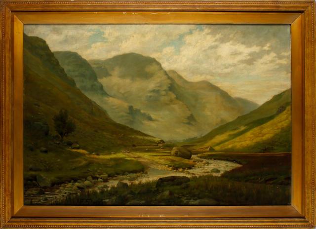 Frederick Stead (British, 1863-1940) Lakeland landscape