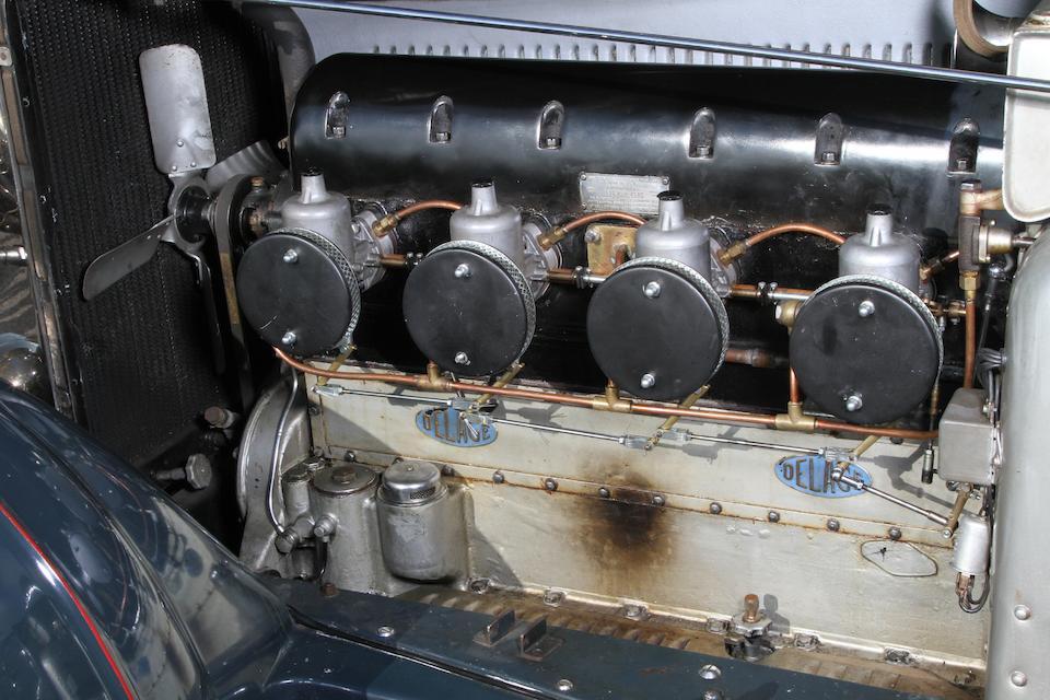 Anciennement propriété de George Milligen,1931 Delage D8 Torpédo Sport quatre places  Chassis no. 34785 Engine no. 1474