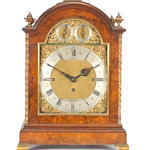 A Victorian George III style walnut quarter striking bracket clockDent, Royal Exchange, Cornhill, London