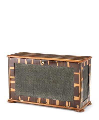 A Victorian laburnum specimen drying cabinet