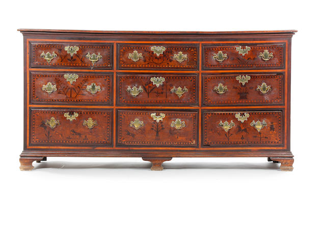A mid 18th Century inlaid oak dresser