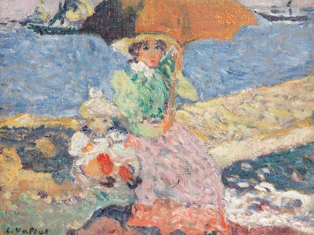 Louis Valtat (1869-1952) Mère et enfant au bord de la plage