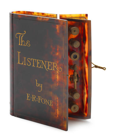 'The Listener by E. R. Phone', a rare crystal-set wireless receiver,  by The Kenmac Radio Ltd., 1924,