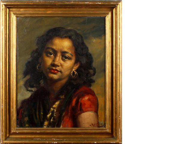 Alfred Egerton Cooper, RBA (British, 1883-1974) Gypsy girl