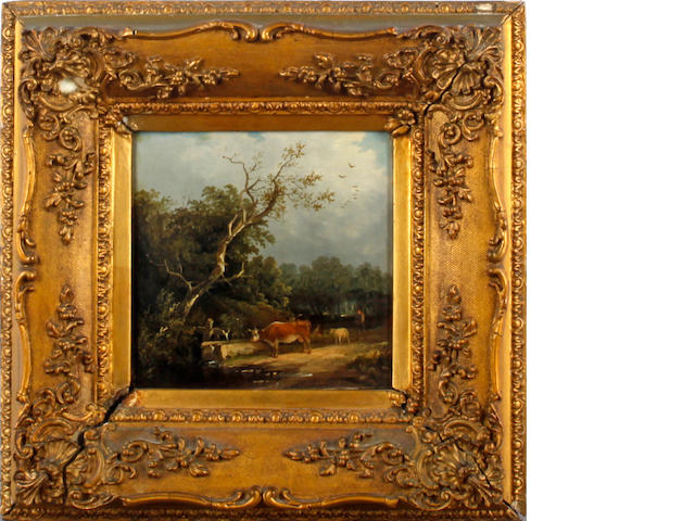 Attributed to Edward Charles Williams (British, 1807-1881) Bucolic landscapes, a pair (2)