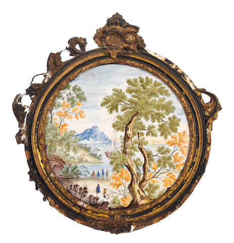 A Castelli plaque or tondo, 18th century