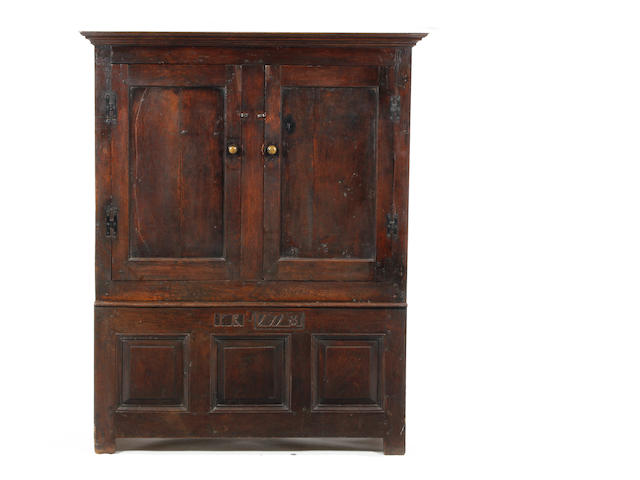 An oak livery cupboard 18th century and later