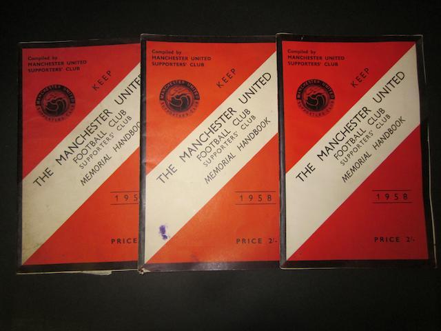 1958 Manchester United memorial handbooks