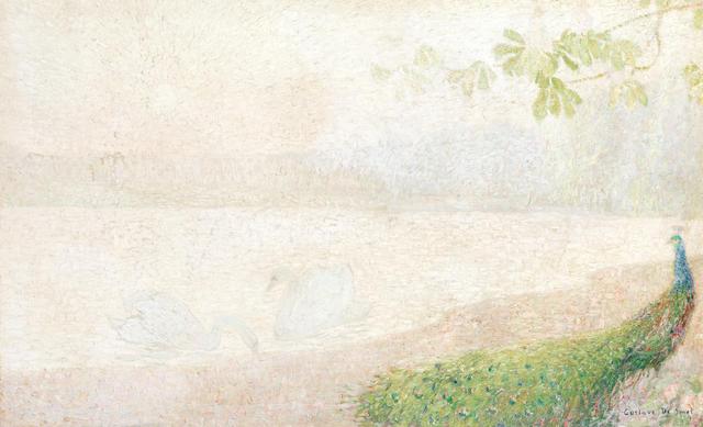 Gustave de Smet (Belgian, 1877-1943) Le lac aux cygnes