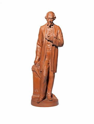 A 20th century painted plaster figure of Benjamin Disraeli (1804 - 1881)