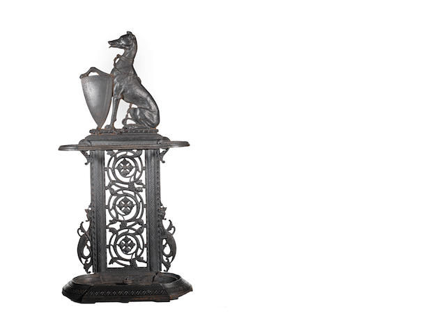 A Victorian cast iron umbrella stand