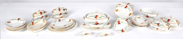 A William Brownfield pottery doll's dinner service